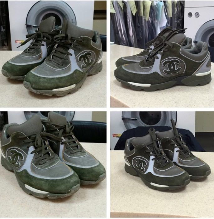 Химчистка обуви. До и после
